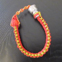 Red unisex bracelet smoking pipe fit all sizes