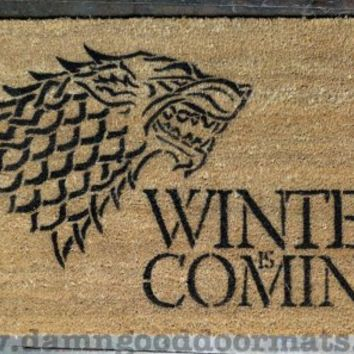 Winter is Coming Game of Thrones doormat | Damn Good Doormats