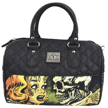 Liquorbrand Horror B Movie Cartoon Small Satchel Purse Crossbody bag