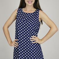 Wonderful Tonight Polka- Dots sleeveless Dress