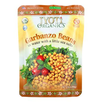 Jyoti Cuisine India Beans - Organic - Garbanzo - 10 Oz - Case Of 6