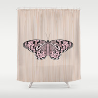 Butterfly Shower Curtain by Ornaart