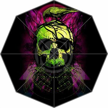 Custom Color skull  Umbrella Sunny and Rainy Sunscreen Anti-uv Umbrella
