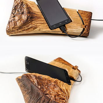iPhone Stand Smartphone Stand iphone Dock Wood iPhone Stand Iphone Docking Station Wood Phone Dock iPhone Charging Station Eco friendly.