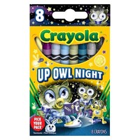 Crayola Pick your Pack Up Owl Night Crayons - 8 Count