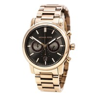Michael Kors MK8370 Men's Pennant Gunmetal Dial Rose Gold Steel Bracelet Chrono Oversized Watch