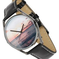 Topman Sunset Leather Strap Watch, 30mm | Nordstrom