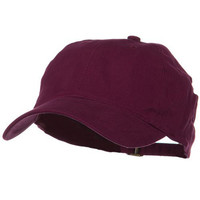 Low Profile Light Weight Brushed Cap - Maroon