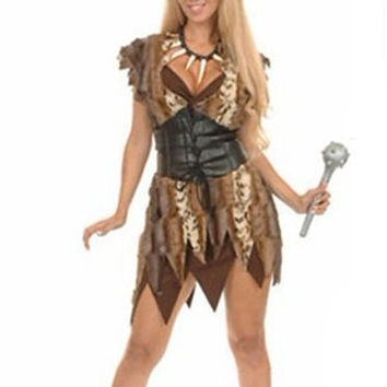 Cave Women Halloween Costumes Set