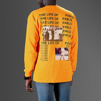 Kanye West Yeezy The life of pablo album cover tshirt