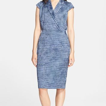 Women's Max Mara 'Nichols' Crocodile Print Dress,