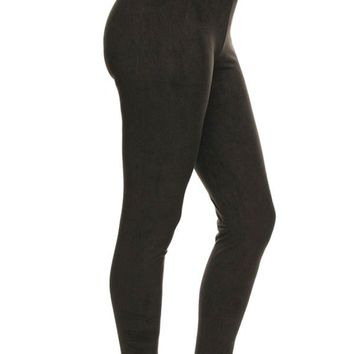 Suede Solid Leggings