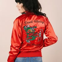 Don't Worry Satin Jacket (RED)