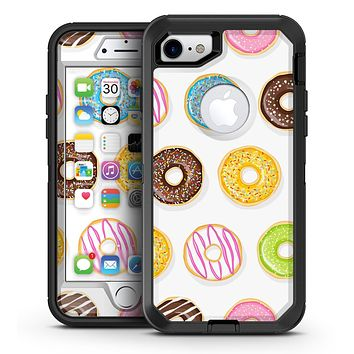 Yummy Colored Donuts - iPhone 7 or 7 Plus OtterBox Defender Case Skin Decal Kit