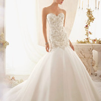 Mori Lee 2606 Strapless Beaded Mermaid Wedding Dress