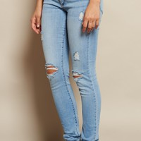 Fresh Indigo High Waist Jegging
