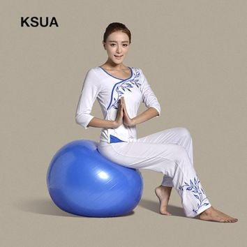 Woman Sportswear Gym Fitness Set Large Size Gym Cotton Sport Yoga Suit T-shirt Pants Tracksuit Yoga Set Zen Meditation Clothing