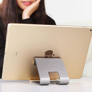Aluminum + Wooden Metal Stand for Tablet PC