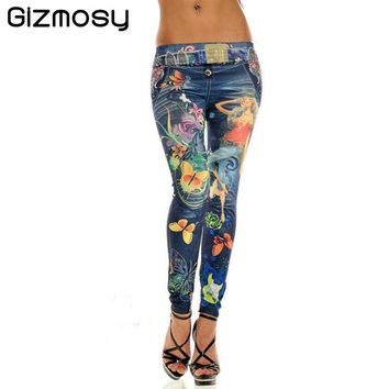 FREE + Shipping - Butterfly Sexy Women Leggings elasticity