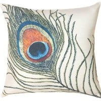 Peacock Feathers Decorative Pillow No Size