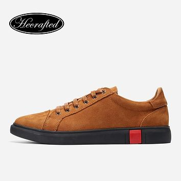 Leather Shoes Men Brown Genuine Leather Luxury Design Casual Fashion  Men Sneakers
