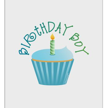 Birthday Boy - Candle Cupcake Aluminum Dry Erase Board by TooLoud
