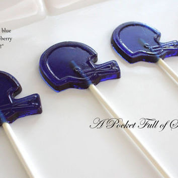 12 FOOTBALL Party Favors Hard Candy Barley Sugar Lollipops Suckers Football Party Favors
