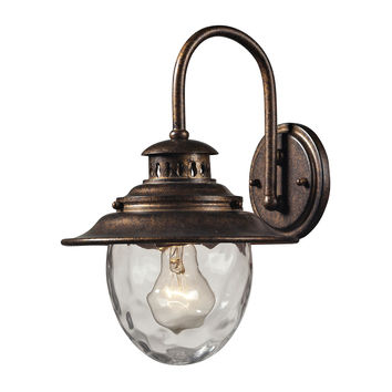 ELK Searsport 1 Light Outdoor Sconce In Regal Bronze - 45030/1