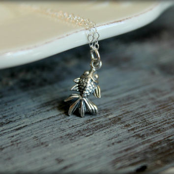 Koi Fish Necklace in Sterling Silver