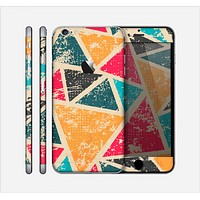 The Chipped Colorful Retro Triangles Skin for the Apple iPhone 6 Plus