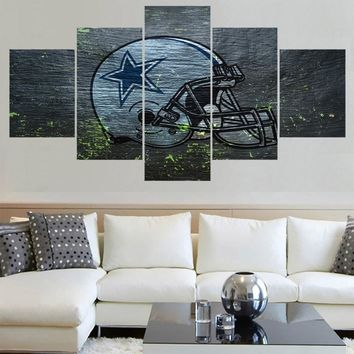 New Design Dallas Cowboys Logo Paintings Wall Art Home Decor Picture Canvas Painting Calligraphy For Living Room Bedroom
