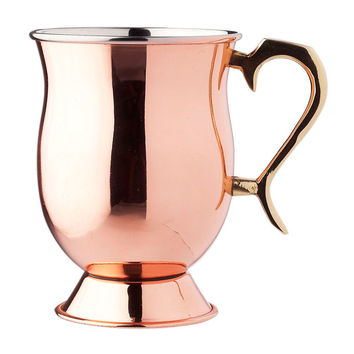 Solid Copper Footed Tankard, Moscow Mule Mugs