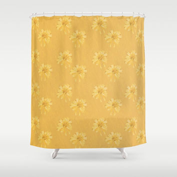 Yellow Orange Bows Shower Curtain by deluxephotos