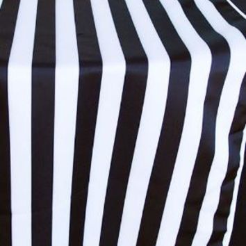 """Cloth Striped Table Runner in Black and White - 108"""" Long x 12"""" Wide"""