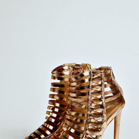 Katie Metallic Multi Strap Ankle Boots