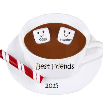 BFF Holiday Ornamanets, Two Cute MAshmellows, Couples Ornament, We Go Together Like...