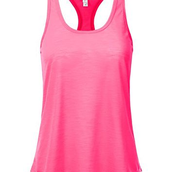 Women's Slub Knit Burnout Racerback Tank Top