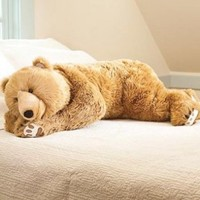 Super-Soft Bear Hug Body Pillow with Realistic Features in Golden Brown:Amazon:Home & Kitchen