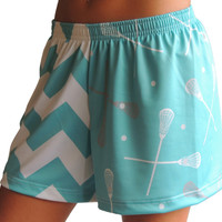 Sublimated Sportabella Chevron Loose Short AQUA - Sportabella, Ltd Store