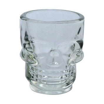 Crystal Skull Head Brandy Snifters Vodka Whiskey Strong Drink Shot Glass Cup Mug Drinking Ware