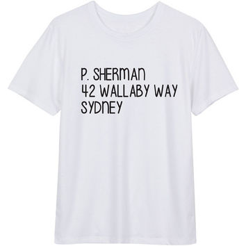 P Sherman 42 Wallaby Way Sydney Finding Nemo Women's Casual T-Shirt