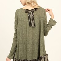 Velvet Detail Sweater Tunic