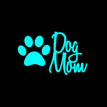 Dog mom car decal, vinyl decal, dog lover, dog lover car decal, dog lover gift, car decal, window sticker, Dog mom sticker