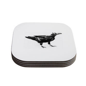 "Sophy Tuttle ""Raven"" Coasters (Set of 4)"