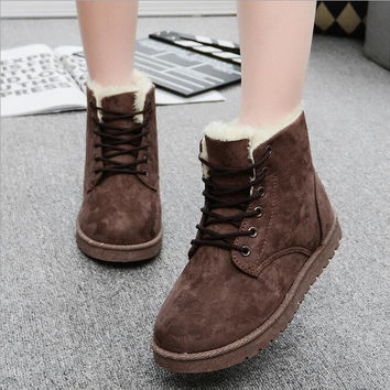 Women's Warm Winter Ankle Boots