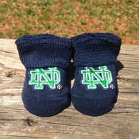 Notre dame fighting irish baby booties