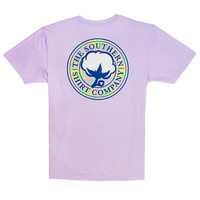 Mirage Logo Tee in Pastel Lilac by The Southern Shirt Co.