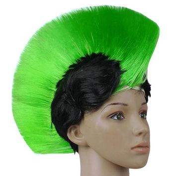 Hot Rainbow Mohawk Hair Costume Punk Rock Wigs Cosplay Party Kids