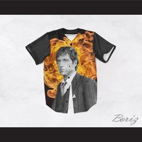 Tony Montana Scarface 45 Raging Flames Baseball Jersey