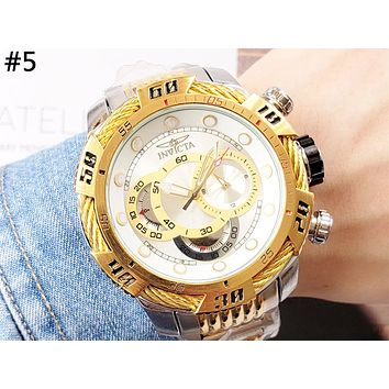 INVICTA Tide brand men and women models high-grade waterproof quartz watch #5